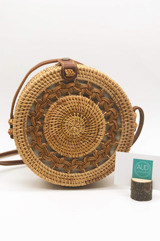 [HANDCRAFTED] Braided Brown Rattan Bag