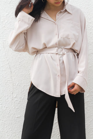 Nanci Shirt Top in Off-white