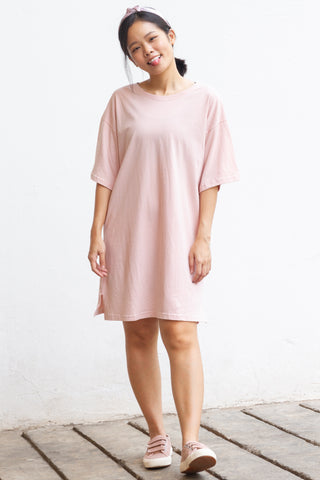 Jaima Jersey Dress in Dusty Pink