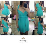 Twenty3 - Marilyn Convertible Bridesmaids Dinner Dress Version III in Tiffany Blue (Short) -  - Bridesmaids - 16