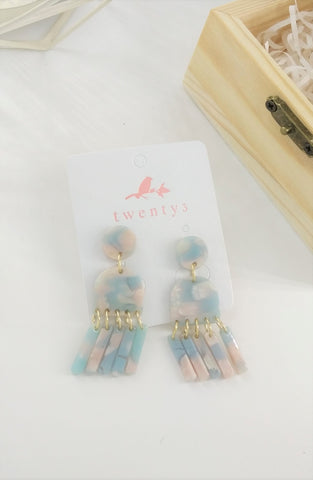Acrylic Pastel Earrings Earrings