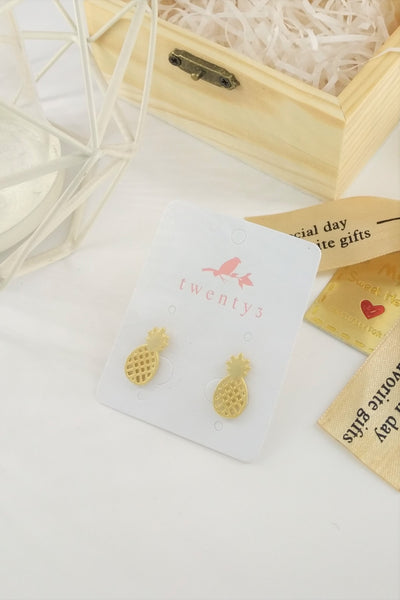 Pineapple Matte Earrings