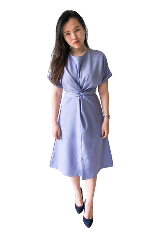 Chevy Midi Dress in Powder Blue