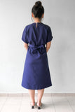 Chevy Midi Dress in Navy Blue