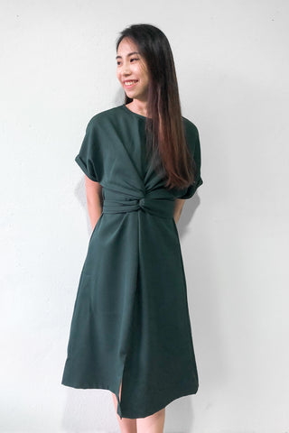 Chevy Midi Dress in Dark Green