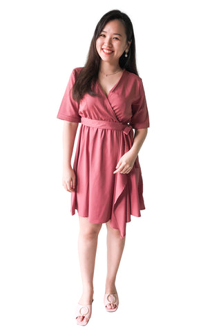 Mia Dress in Taupe