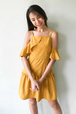 Etoiie 2-Way-Dress in Mustard