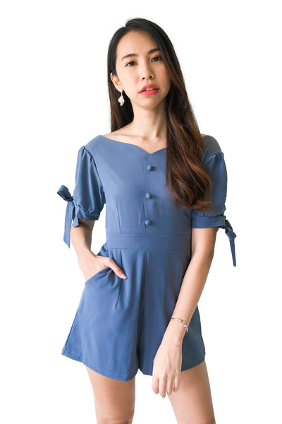 Cabel Playsuit in Dusty Blue