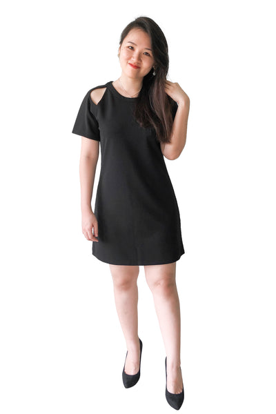 Arjean Shift Dress in Black
