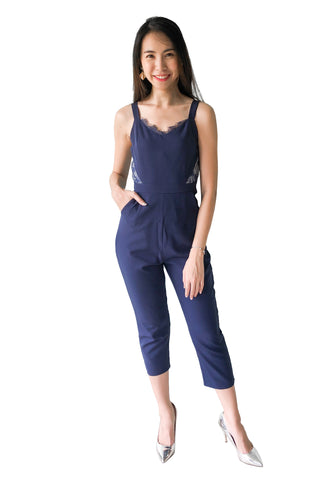 Garrison Jumpsuit in Navy Blue