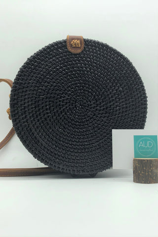 [HANDCRAFTED] Becky Black Rattan Bag