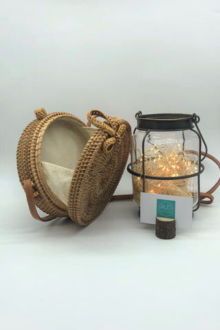 [HANDCRAFTED] Charlie Round Rattan Bag Brown