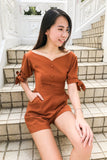 Cabel Playsuit in Brown