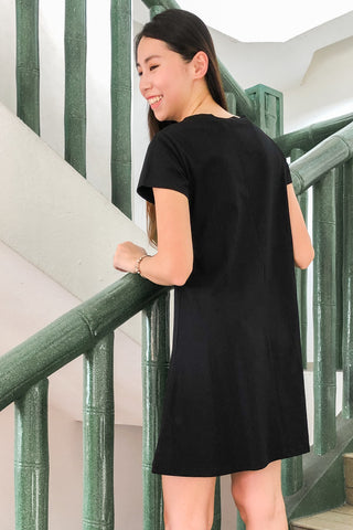 Barbaros Shift Dress in Black