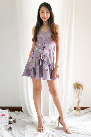 Adelia Floral Dress in Lilac