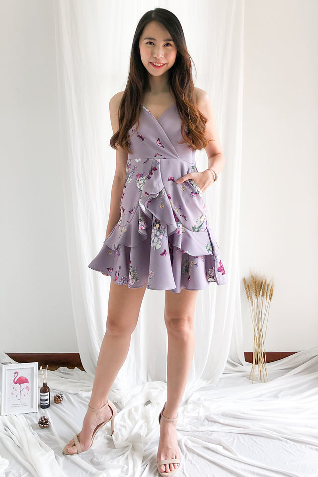 374578149fd47 Adelia Floral Dress in Lilac Adelia Floral Dress in Lilac