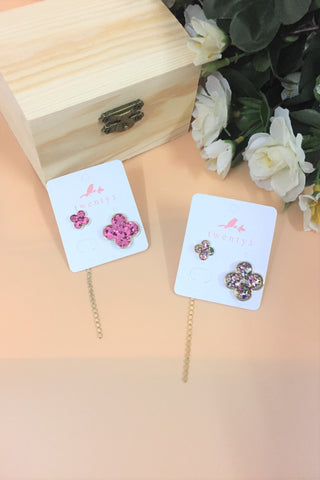 Asymmetrical 4 Petals Earrings