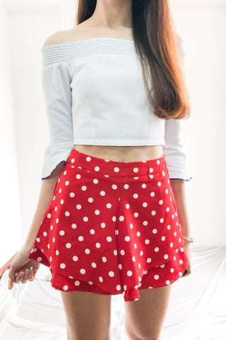 Cileste Shorts in Red Polka