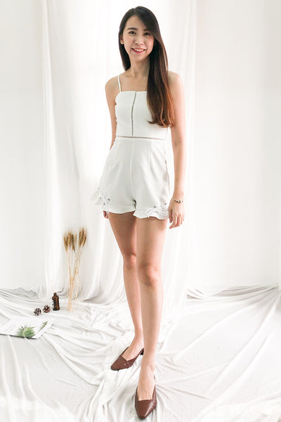 Madeline Romper in White