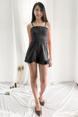 Madeline Romper in Black