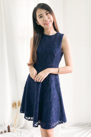 Two-Way Raissa Dress in Navy Blue