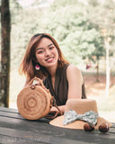 [HANDCRAFTED] Dannie Twin Rattan Bag Brown with Handle