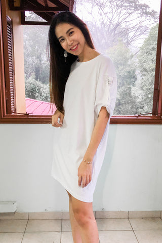 Nicole Oversized Dress in White