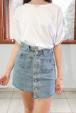 Landis Asymmetrical Denim Skirt