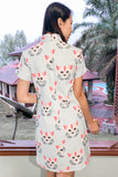 Cadensia Cheongsam Shift Dress in Cat Prints