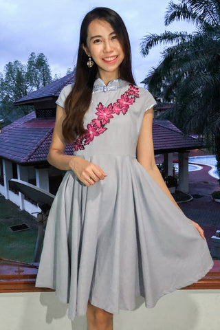 Elise Cheongsam in Light Purple