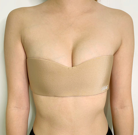EXPERIMENT PRICE - One Piece Non-Slip Strapless Bra Beige