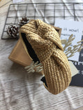 Knot Rattan Headband Brown