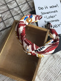 Knot Painting Headband Burgundy