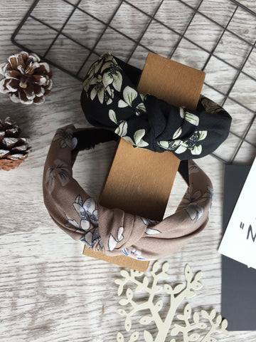 Twist Knot Headband Black