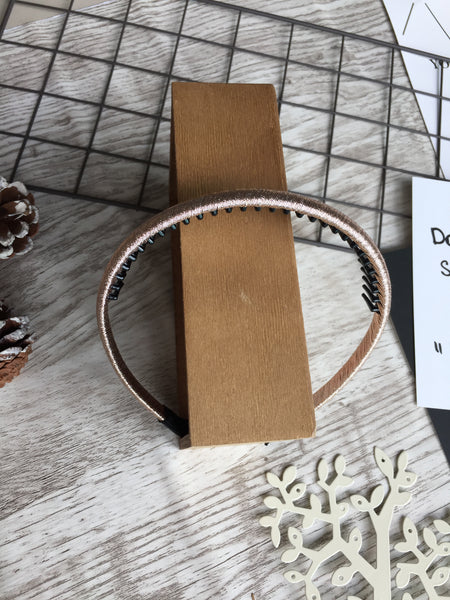 Silk Headband Rose Gold