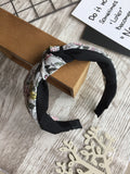 Knot Painting Headband Black