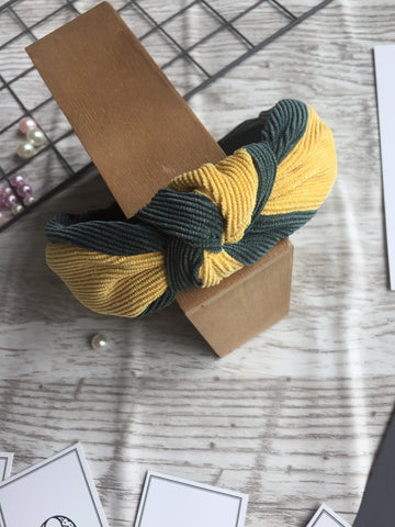 Knot Mixed Yellow Headband