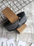 Knotted Plain Lace Headband Black