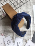Knotted Headband Blue