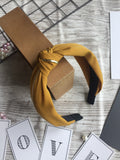 Knot Sideline Headband Yellow