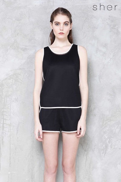 Ryker Top in Black - Top - Twenty3