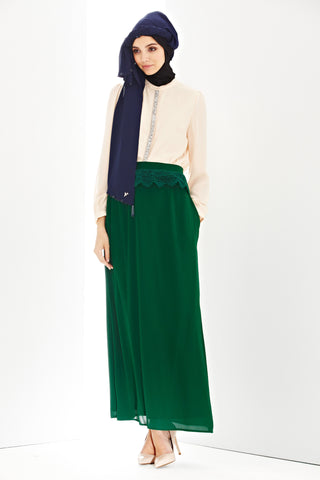 Daria Skirt in Emerald - Bottoms - Twenty3