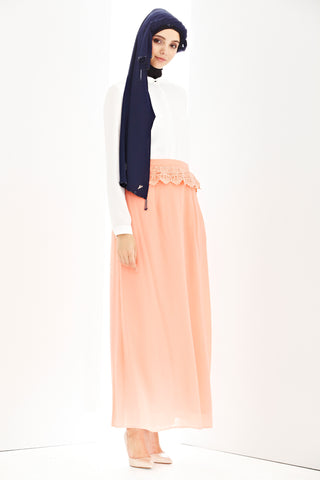 Daria Skirt in Salmon Pink - Bottoms - Twenty3