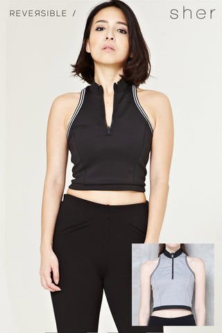 Reversible Vittorea Top in Black - Top - Twenty3