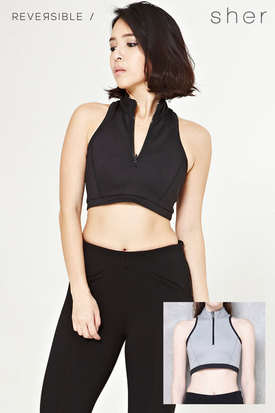 Twenty3 - Reversible Vittorea Top in Black -  - Top - 1