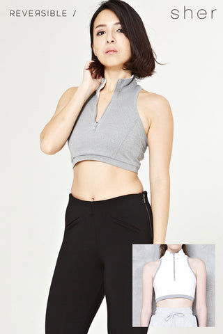 Reversible Vittorea Top in Grey - Top - Twenty3