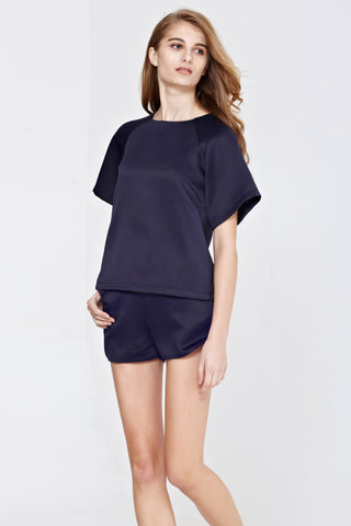 Twenty3 - Misty Top in Navy Blue -  - Top - 1
