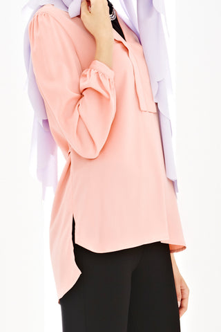 Beatrice Top in Salmon Pink - Tops - Twenty3