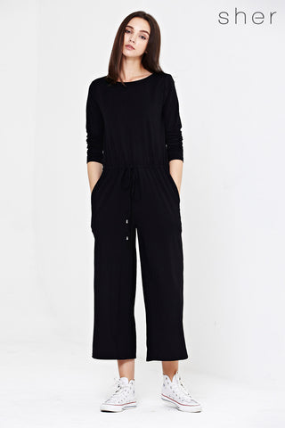 Lydia Romper in Black - Romper - Twenty3