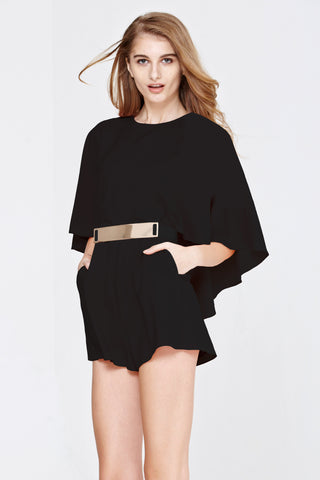 Itzel Playsuit in Black - Romper - Twenty3